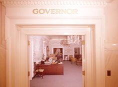 Florida Memory - Entrance to the Governor's Office in the Old Capitol building - Tallahassee, Florida