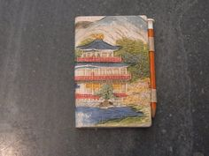 Vintage Oriental Covered Pocket Address Book by WhiteHartAntiques