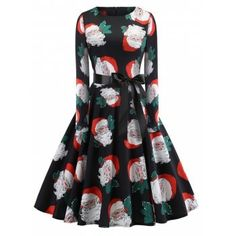 Vintage Dress 2018 Casual Christmas Snowman Winter Dresses Women Robe Swing Pinup Elegant Party Dress Vestidos Plus Size Robe Swing, Swing Dress, Pin Up Dresses, Types Of Dresses, Women's Dresses, Fashion Dresses, Spring Dresses, Winter Dresses, Robes Pin Up