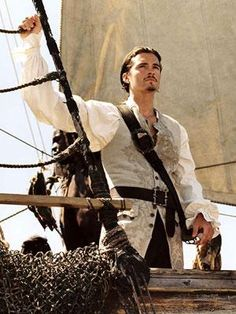 British actor, Orlando Bloom in Pirates of the Caribbean. Orlando Bloom, Will Turner, Dylan O'brien, Will And Elizabeth, Pirate Adventure, Captain Jack Sparrow, Pirate Life, Legolas, Pirates Of The Caribbean
