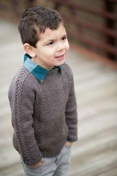Knitting Patterns Boy New Pattern: Winter Cocoa — Knittin& Little Baby Boy Knitting, Knitting For Kids, Crochet For Kids, Knit Crochet, Boys Knitting Patterns Free, Sweater Knitting Patterns, Toddler Sweater, Boys Sweaters, Marie