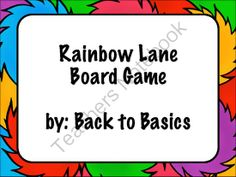 Rainbow Lane Board Game from Back to Basics on TeachersNotebook.com -  (11 pages)  - Rainbow Lane is a board game created to practice sight words, math facts and many other subjects.