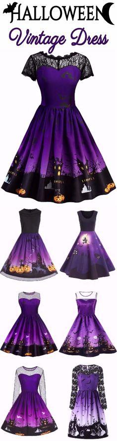 Happy Halloween Vintage Dress | Start at $10 | Sammydress.com #happyhalloween
