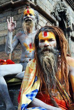 Two wise men celebrate Shiva's birthday by Samer M (solely)