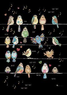 Cat with Birds – Bug Art Images Kawaii, Bug Art, Bird Quilt, Animal Quilts, Applique Quilts, Whimsical Art, Art Plastique, Fabric Art, Textile Art