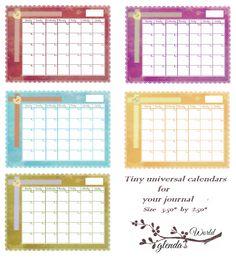 Free Universal Calendars