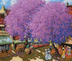 Streetscene in Hanoi by Vietnamese Artist Duong Ngoc Son