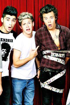 Zayn Malik, Niall Horan, and Harry Styles