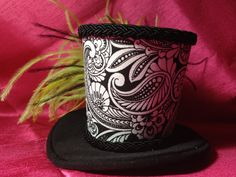 Black and Green Mini Top Hat