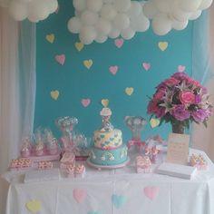 """17 curtidas, 1 comentários - jacqueline oliveira (@ateliejacoliveira) no Instagram: """"#chuvadeamor"""" Bunny Birthday, 1st Birthday Girls, Princess Birthday, 1st Birthday Parties, Baby Shower Princess, Baby Boy Shower, Baby Shower Cakes, Cloud Party, Gender Party"""