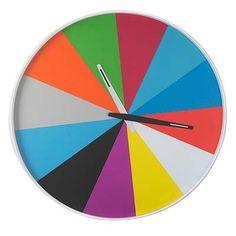 ULTRA FLAT WALL CLOCK | Rainbow, Ultra-Thin, Walls, Clocks, Colorful | UncommonGoods