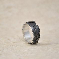 Silver Ring Handmade Steampunk Industrial Alacrissim by GatoJewel