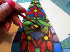 How to create faux stained glass