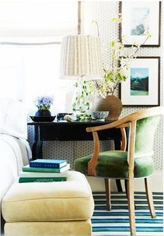 lamp & chair & rug, o my!