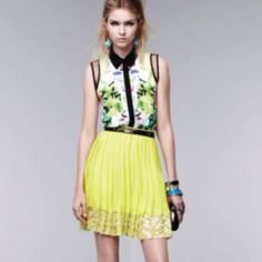 Prabal Gurung for Target sleeveless blouse Sold out everywhere! The ultimate designer  fashion statement piece at an affordable cost. Lightweight button down with mesh shoulder detailing. Gorgeous. Brand new with tags. Prabal Gurung Tops Blouses