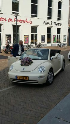 Off White Cream Colored Vw Beetle Miscellaneous