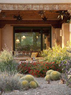 Xeriscape Garden In Bloom Boxhill Landscape Design Tucson, AZ Landscape Design, Garden Design, Desert Landscape, Courtyard Design, Landscape Architecture, Minimalism Living, Drought Tolerant Garden, California Native Plants, Desert Plants