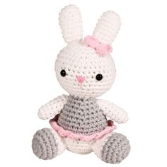 """- Hand crochet 4"""" toy - Made of 100% cotton and eco-friendly dyes. - Exceeds Consumer Product Safety Improvement Act (CPSIA) requirements. - Ages 0+"""