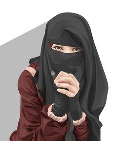 Cute Muslim Couples, Muslim Girls, Hijabi Girl, Girl Hijab, Beautiful Muslim Women, Beautiful Hijab, Muslim Pictures, Caricature, Stylish Hijab
