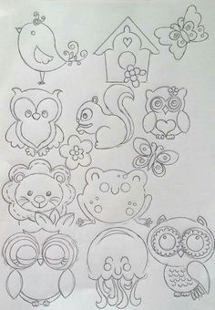 Animal quilting patterns for a block Applique Patterns, Applique Designs, Quilt Patterns, Embroidery Designs, Clipart Baby, Colouring Pages, Coloring Books, Anne Geddes, Baby Clip Art