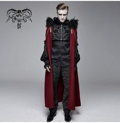 Black Overcoat, Steampunk Clothing, Gothic Steampunk, Mens Winter Coat, New Years Sales, Men's Coats And Jackets, Gothic Fashion, Dark Fashion, Cloak