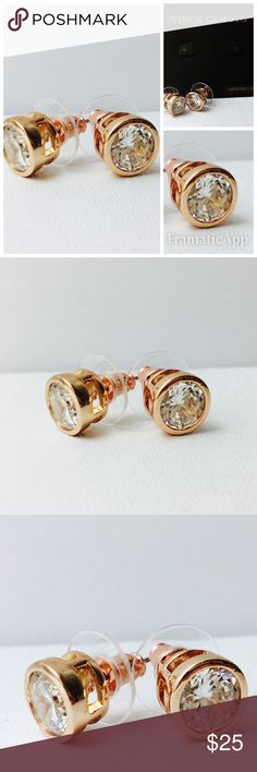 New With Tags Vince Camuto Rose Gold Studs New with tags / genuine CZ Vince Camuto Jewelry Earrings