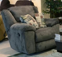Catnapper - Transformer Chaise Swivel Glider Recliner in Seal - 1940-5-SEAL