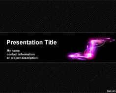 Electric arrow PowerPoint template background with dark color