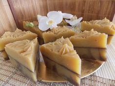 Cinnamon Bun soap cake sliced! http://pinterest.com/nfordzho/soaps/