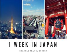 How to Create a Japan Travel Budget - 1 Week in Japan - Example Travel Budget