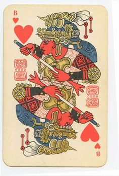 The soviet mayan playing cards - Valet de coeur