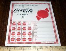 1950's COCA-COLA CONTEST 5 CENT PUSH CARD