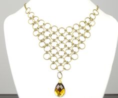 How to Make Bronze Chainmaille Jewelry with Jumpring and Rhinestone Drop Bead