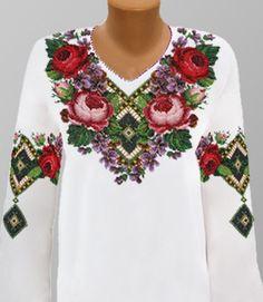 Ukrainian Beaded Blouse / Beaded Embroidery / by aCrossUkraine