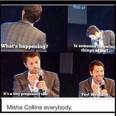 "Sometimes I hate how much I love Misha. << ""hate"" and ""Misha"" should never be in the same sentence together."