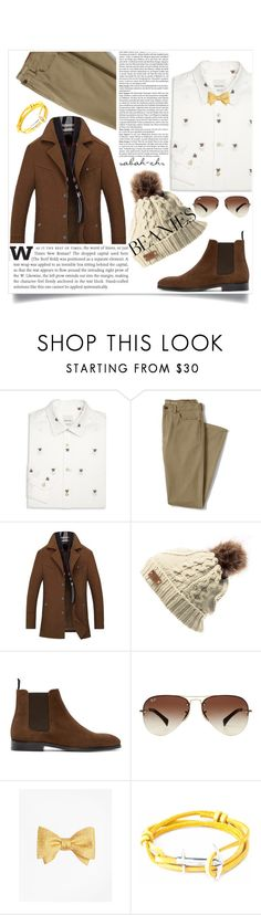 """""""Beanies"""" by sabah-zhr ❤ liked on Polyvore featuring Paul Smith, Lands' End, PS Paul Smith, Ray-Ban, Brooks Brothers, Anchor & Crew and pompombeanies"""