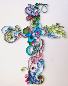 Obsessed With Paper Art: New Paper Scrolled Cross