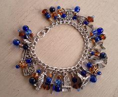 Ravenclaw House Pride Charm Bracelet by jennieingram Harry Potter Merchandise, Harry Potter Diy, Ravenclaw, Circle Earrings, Stud Earrings, Charm Jewelry, Jewelry Bracelets, Geek Jewelry, Bangles