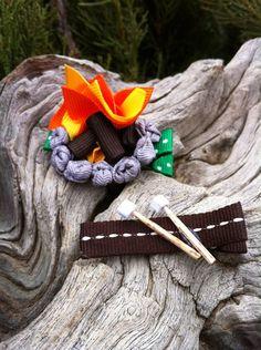 Marshmallows Campfire...  Ribbon Sculpture Set. $7.50, via Etsy.