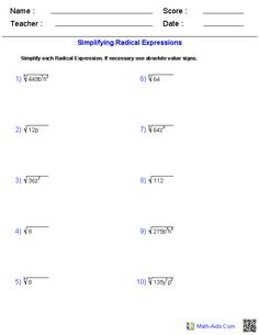 math worksheet : dividing radical expressions worksheets  math aids com  : Adding And Subtracting Radicals Worksheet