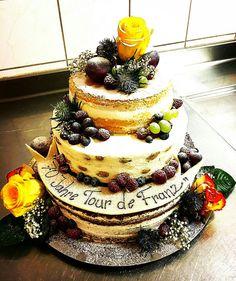 NAKED CAKE Naked, Desserts, Food, Tailgate Desserts, Deserts, Essen, Postres, Meals, Dessert