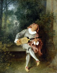 "Watteau ""Mezzetin"" 1718-1720"