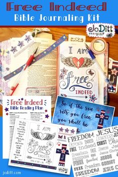 Freedom in Christ Bible Study Journaling Kit Printables