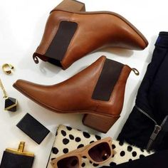 """Dune London Pointed Chelsea Boots Details: • Size 6 • Chestnut leather with black elastic  • 1"""" heel • Brand new in box  11091501 Dune London Shoes Ankle Boots & Booties"""