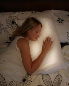 The Pillow that makes long distance relationships less lonely...I want this!