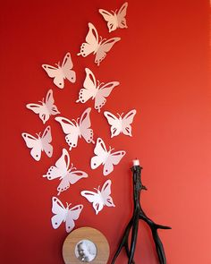 3D Wall Butterflies - 60 Assorted Black Butterfly Silhouettes ...