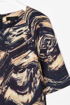 Silk-mix printed dress - COS
