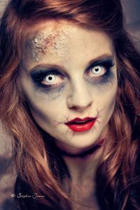 Glamour zombie SFX makeup idea