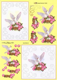 Embroidery Cards, Hand Embroidery, Embroidery Designs, Smocking Patterns, Card Patterns, String Art Tutorials, 3d Sheets, Sewing Cards, Image 3d