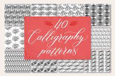 40 Calligraphy Patterns @creativework247